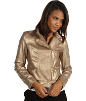 Anne Klein - Faux Snakeskin Motorcycle Jacket