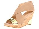 Cole Haan - Irving Wedge (Sandstone Nubuck/Gold Mirrored Metallic) - Footwear