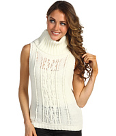 Anne Klein Petite - Petite Sleeveless Cowl Neck Cable Pullover