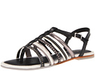 Cole Haan - Nassau Flat Sandal (Black/Ivory/Gunsmoke) - Cole Haan Shoes