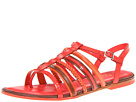 Cole Haan - Nassau Flat Sandal (Cherry Tomato/Sequoia/Orange Pop) Sandal