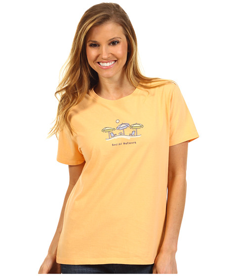 Life is good - Social Network Umbrellas Crusher Tee (Tangerine Orange) - Apparel