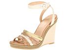 Cole Haan - Nassau Wedge (Ivory/Sandstone/Platino) - Cole Haan Shoes