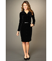 Anne Klein - Velvet Polo Dress