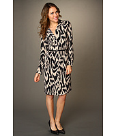 Anne Klein - Ikat Print L/S Polo Dress