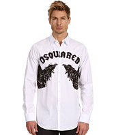 DSQUARED2 - Mean Eagles Cotton Poplin Shirt