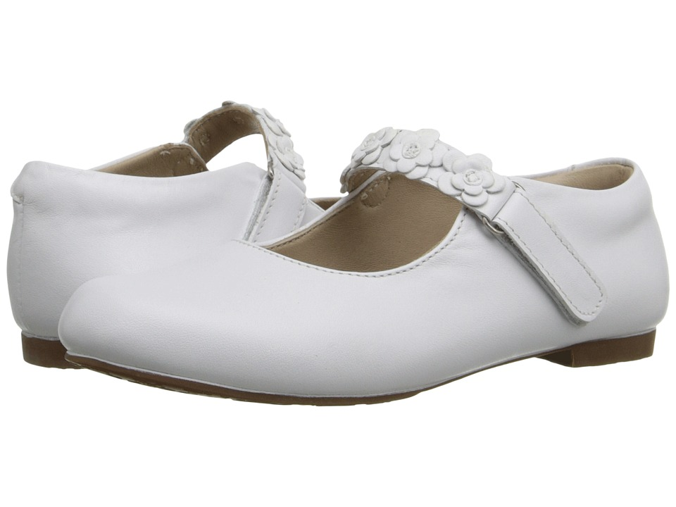 Elephantito Flower Mary Jane Toddler/Little Kid White Girls Shoes