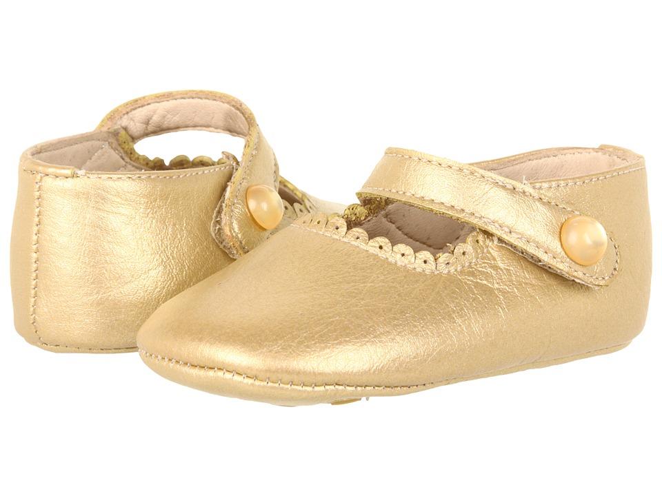 Elephantito - Mary Jane Baby (Infant) (Gold) Girls Shoes
