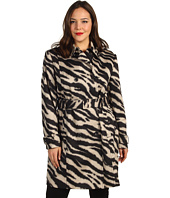 Anne Klein Plus - Plus Size Zebra Print Trench Coat