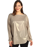Anne Klein Plus - Plus Size Foiled L/S Blouse