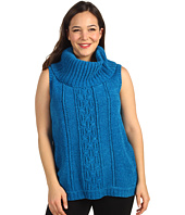 Anne Klein Plus - Plus Size Sleeveless Cowl Neck Cable Pullover