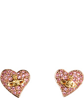 Vivienne Westwood - Tiny Diamante Heart Studs