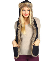 SpiritHoods - Navy Wool Full Raccoon Trapper