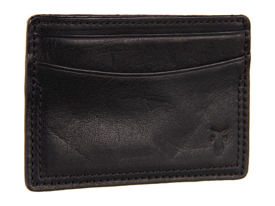 Frye - James Card (Black Tumbled Full Grain) Credit card Wallet