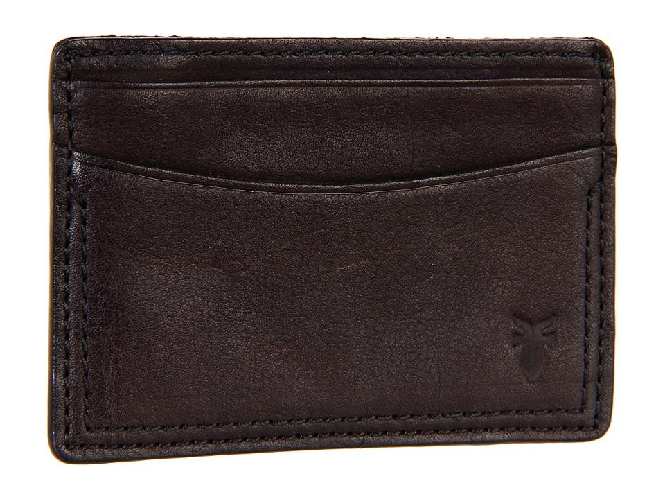 Frye - James Card (Dark Brown Tumbled Full Grain) Credit card Wallet