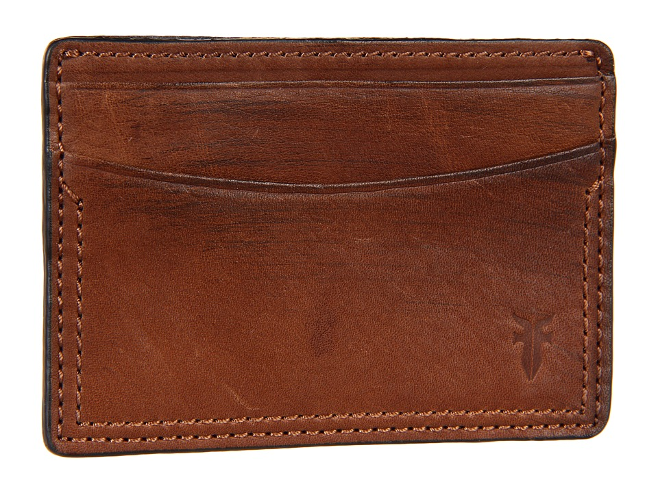 Frye - James Card (Taupe Tumbled Full Grain) Credit card Wallet