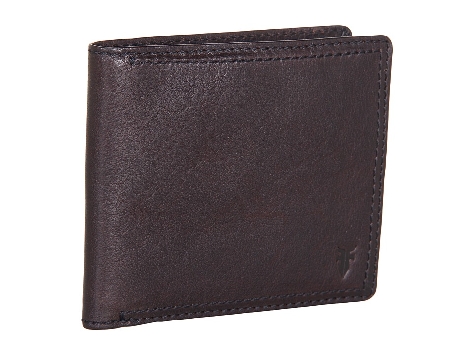 Frye - James Wallet (Dark Brown Tumbled Full Grain) Wallet Handbags