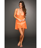 Hurley - One & Only Solids Scoop Neck Crochet Cover Up