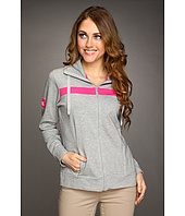 Caribbean Joe - French Terry Cinched Neck Zip Up