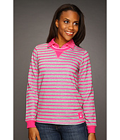 Caribbean Joe - Deck Stripe 1/4 Mock Neck w/Shoulder Patch Detail