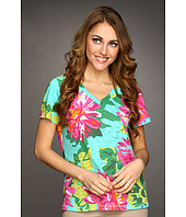 Caribbean Joe - Flower Garden S/S V-Neck