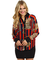 Christin Michaels - Hadly Button Up Print Top
