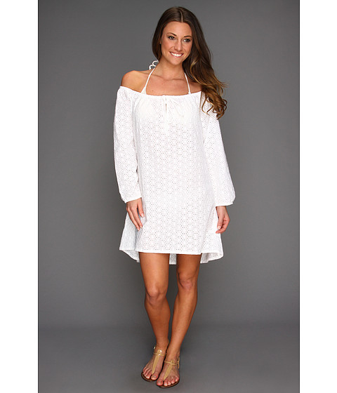 Shop Ella Moss - Trellis Tunic Cover Up White  and Ella Moss online - Women, Clothing, Swimwear, Cover Ups online Store