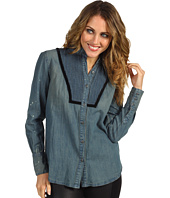 Free People - Denim Pintuck Shirt