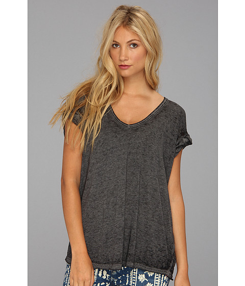 Free People - Keep Me Tee (Charcoal) - Apparel