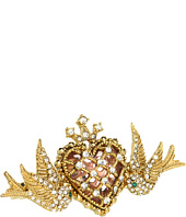 Betsey Johnson - Lovebird Case Bird Heart Ring