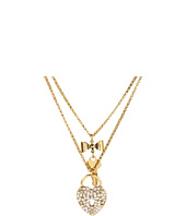 Betsey Johnson - Iconic Heart/Key 2 Row Necklace