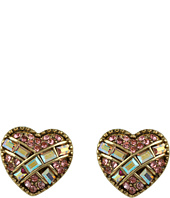 Betsey Johnson - Iconic Heart Crystal Stud Earrings