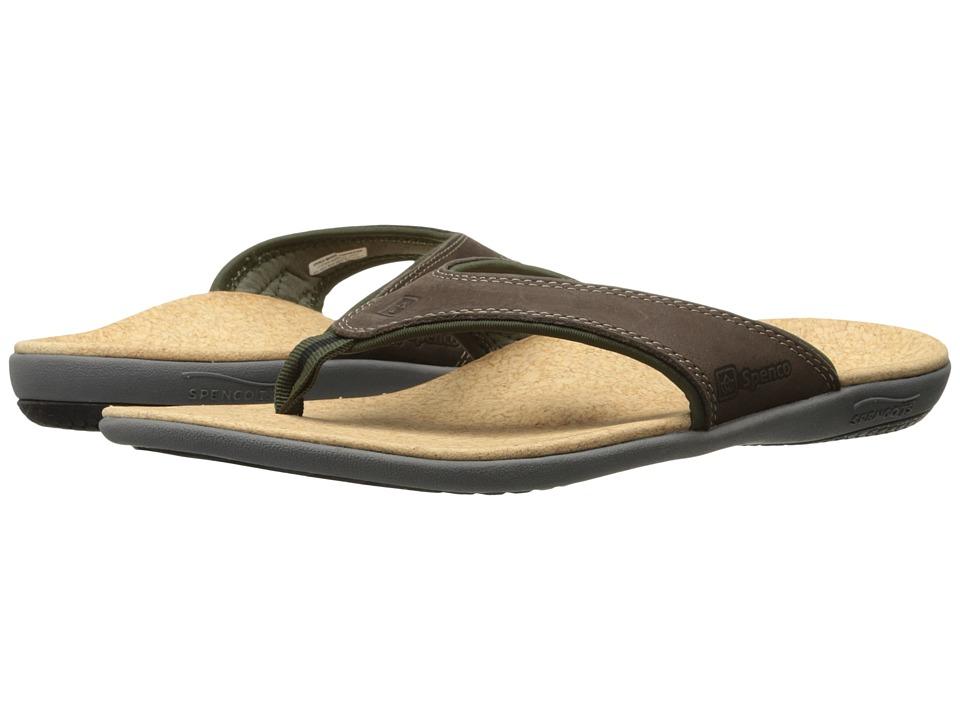 Spenco Yumi Dark Brown Mens Sandals