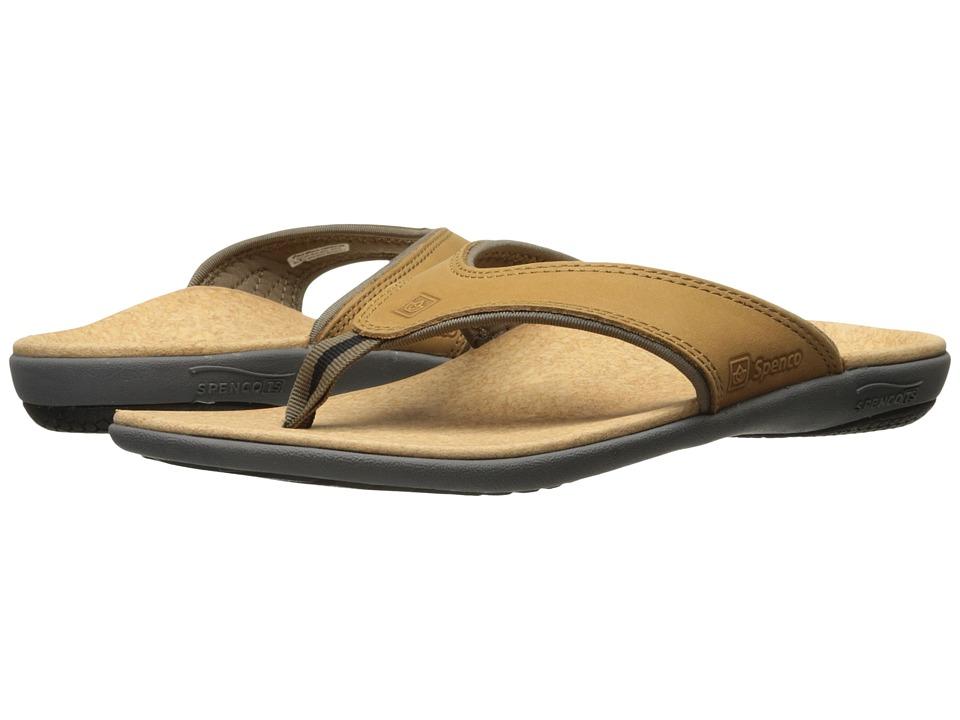 Spenco Yumi Medium Brown Mens Sandals