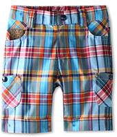 Fendi Kids  Boys\' Plaid Short w/ Logo Details (Infant)  image