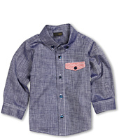 Fendi Kids - Baby Boy Button Down Shirt w/ Logo Front Pocket (Infant)