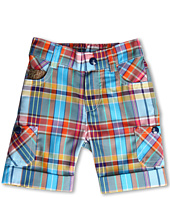 Fendi Kids  Boys\' Plaid Short w/ Logo Details (Infant)  image