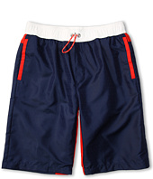 Fendi Kids - Boys' Logo Swim Shorts w/ Red Trim (Toddler/Little Kids/Big Kids)