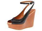 Marc by Marc Jacobs - Clean Sandal Wedges (Vacchetta Black/Tan/Nude) Sandal