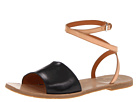 Marc by Marc Jacobs - Anemone Sandal Flat (Vacchetta Maine Black/Vacchetta Maine Nude) Sandal