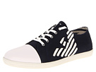 Armani Jeans - Eagle Low Top Trainer (Navy Canvas) - Footwear
