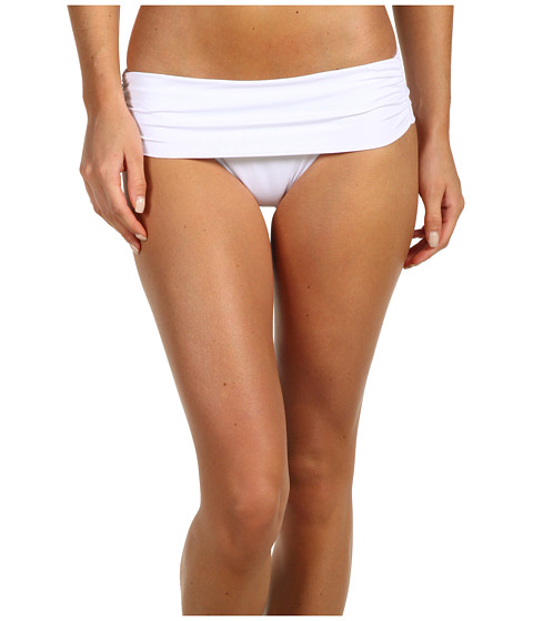 Cheap Vitamin A Gold Swimwear Convertible Waist Full Coverage Bottom Eco White