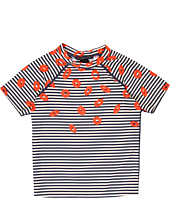 Little Marc Jacobs - Stripey Mademoiselle Danger S/S Rashguard (Toddler/Little Kids/Big Kids)