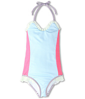 Fendi Kids - Girls' One Piece Swimsuit w/ Ruffle Trim (Toddler/Little Kids)