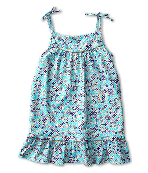 Shop Little Marc Jacobs - Jamie Denim Ruffle Hem Cover Up Dress Toddler, Little Kids, Big Kids Powder Blue  and Little Marc Jacobs online - Girls, Clothing, Swimwear, Cover Ups online Store
