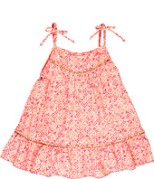 Little Marc Jacobs - Jamie Denim Ruffle Hem Cover Up Dress (Toddler/Little Kids/Big Kids)