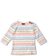 Fendi Kids - Girls' Three Quarter Sleeve Striped Tee (Toddler/Little Kids)