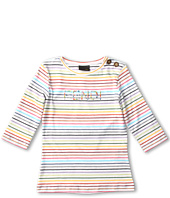 Fendi Kids - Girls' Three Quarter Sleeve Striped Tee (Little Kids/Big Kids)