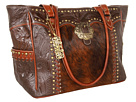 American West Carry-on Tote (Chocolate/Antique Tan/Exotic Hair)