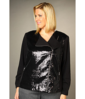 Calvin Klein - Plus Size Moto Sequin Jacket